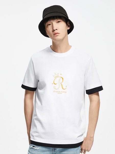 cabbeenurban卡宾都市男装品牌2020春夏金线字母刺绣打底衫半袖体恤