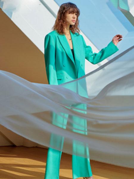 艾匹思女装品牌2020春夏新款纯色休闲气质西装套装
