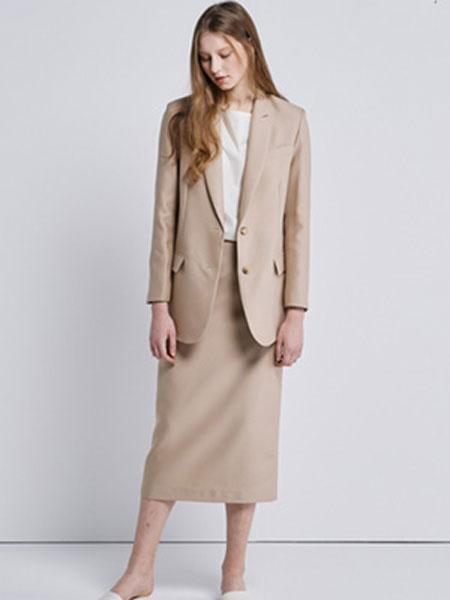 艾匹思女装品牌2020春夏新款纯色休闲气质西装裙子套装