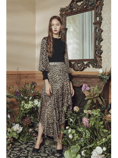 保时霓女装品牌2020春夏新款豹纹时尚半身裙
