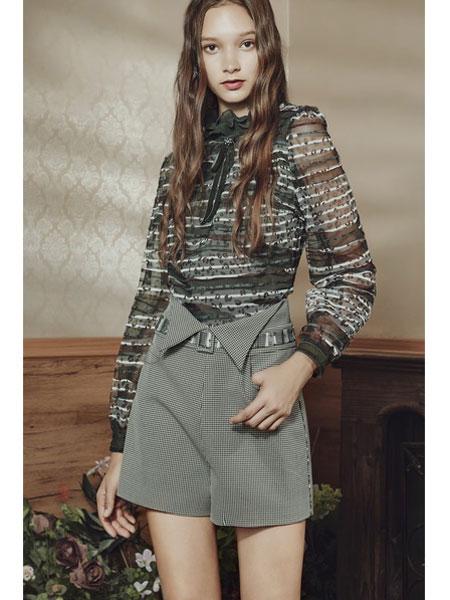 保时霓女装品牌2020春夏新款修身时尚短款裤