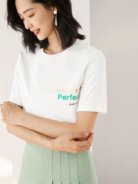 尚都比拉时尚上衣女2020春装新款简约字母印花圆领纯棉短袖t恤女