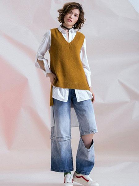 无轨女装品牌2020春夏新款纯色气质针织马甲