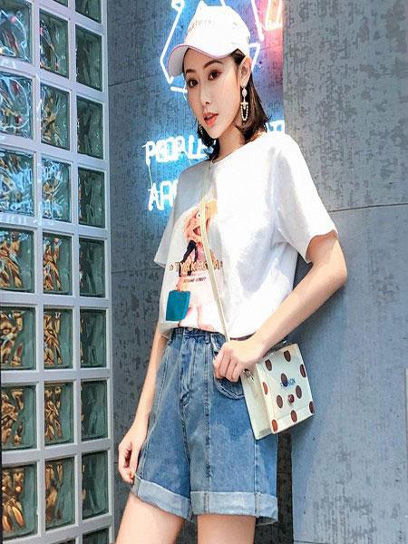 B P(Bella Party)女装品牌2020春夏新款纯色气质图案简洁上衣