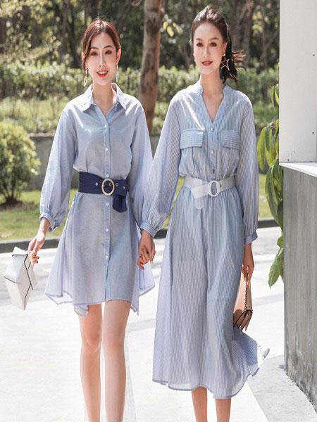 B P(Bella Party)女装品牌2020春夏新款纯色透纱连衣裙