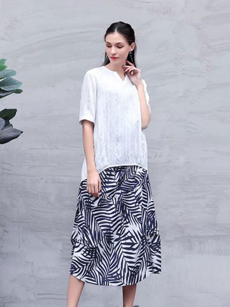 言苼记女装品牌2020春夏新款纯色碎花半身裙