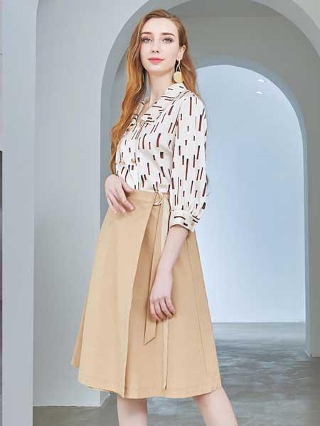 娅丽达女装品牌2020春夏新款修身半身裙