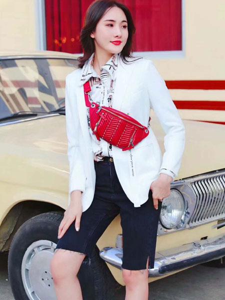 季候风女装品牌2020春夏新款纯色气质ol西装套装