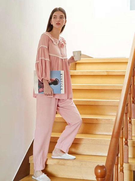 evenie品牌2020春夏新款纯色气质家居服