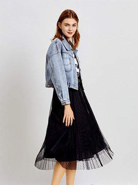 简约风情女装品牌2020春夏新款纯色牛仔外套