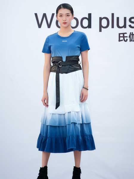 氏伽女装品牌2020春夏纯棉收腰连衣裙