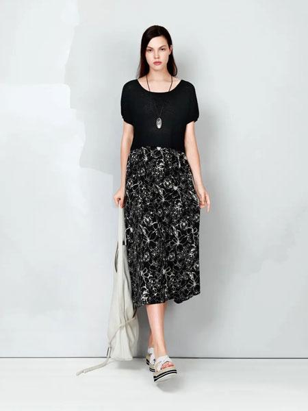 ZAIN形上女装品牌2020春夏新款纯色碎花半身裙