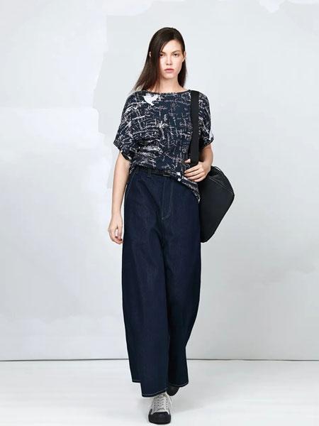 ZAIN形上女装品牌2020春夏新款纯色气质阔脚裤