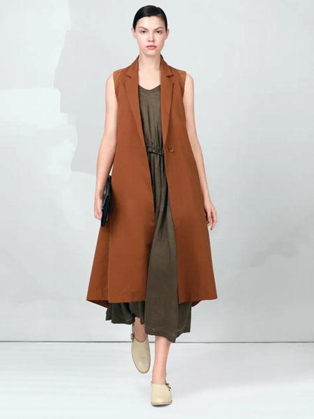 ZAIN形上女装品牌2020春夏新款纯色长款无袖马甲