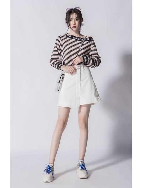 JA女装品牌2020春夏新款白色短裙