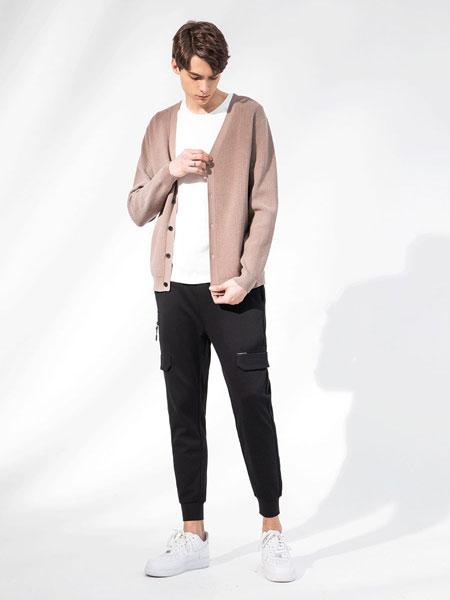 积上风尚男装品牌2020春夏新款纯色个性纽扣开衫