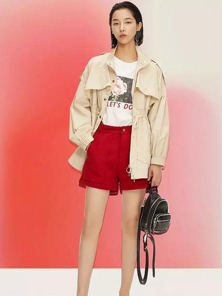 LOFT SHINE女装品牌2020春夏新款卡其色短款风衣