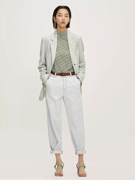 LOFT SHINE女装品牌2020春夏新款薄荷绿西装外套