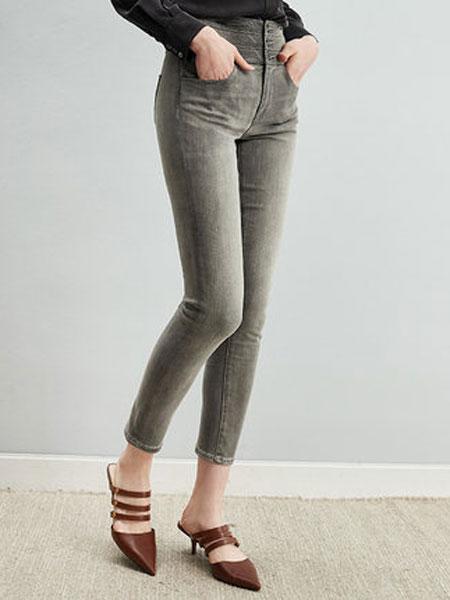 ZIMMUR黑灰色超高腰牛仔裤紧身小脚裤女高瘦女生穿搭收腹蜜桃殿