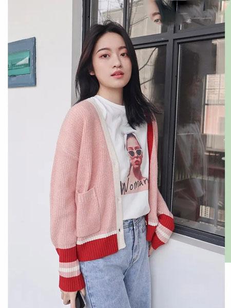 天衣布品女装品牌2020春夏新款纯色针织气质开衫