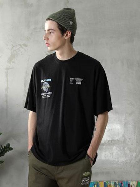 it UNDER GARDEN男装短袖T恤2020春季新品潮流logo印花