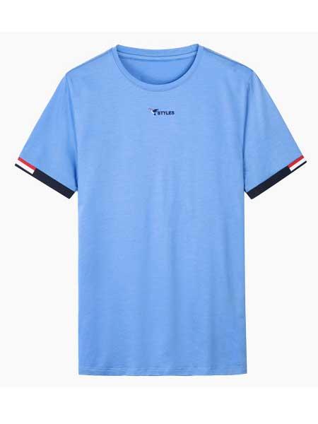 太子龙男装品牌2020春夏新款修身圆领T恤时尚简约休闲打底衫