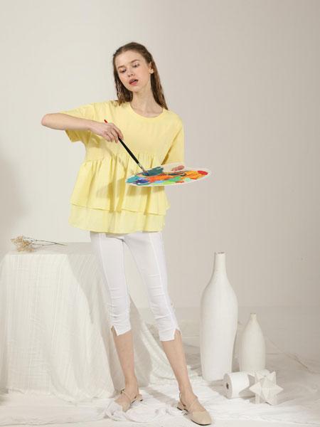 芊伊朵女装品牌2020春夏新款纯色真丝气质上衣