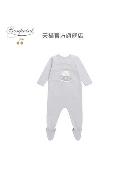 Bonpoint童装品牌2020春夏婴儿连身衣法式新生幼儿连体长袖纯棉