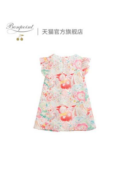 Bonpoint童装品牌2020春夏儿童连身连衣裙女童春季公主裙