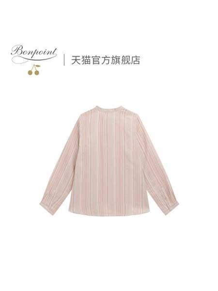 Bonpoint童装品牌2020春夏衬衫女童长袖衬衫春季款