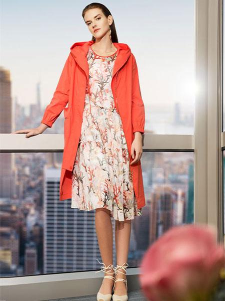 添姿女装品牌2020春夏新款纯色气质风衣