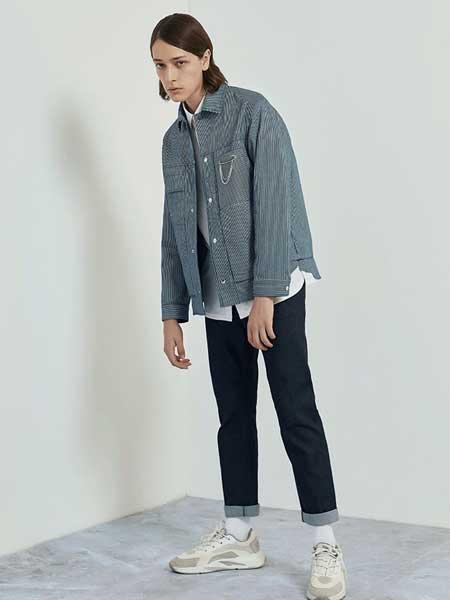 EHE男装品牌2020春夏新款纯色气质纽扣开衫