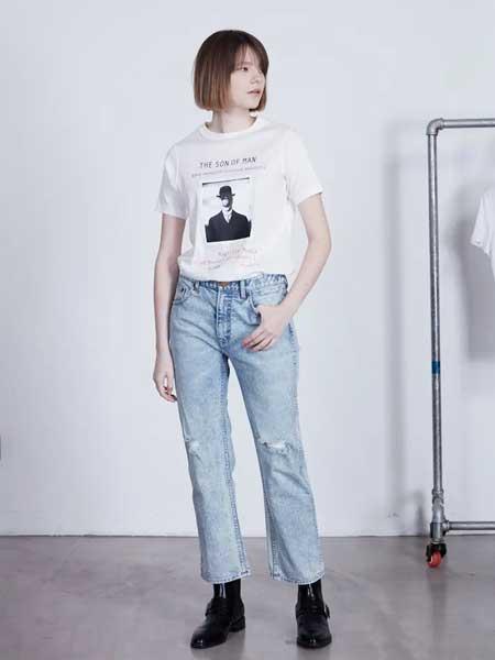 GRANDUCA女装女装品牌2020春夏新款纯色图案短袖上衣