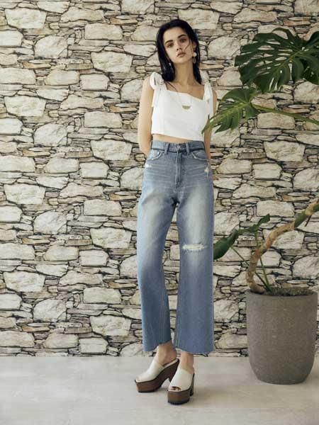 EVRIS国际品牌品牌2020春夏清新牛仔套装