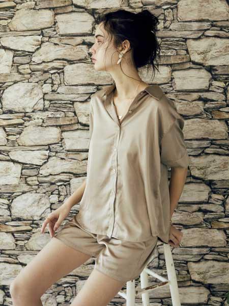 EVRIS国际品牌品牌2020春夏丝光棉丝绸睡衣