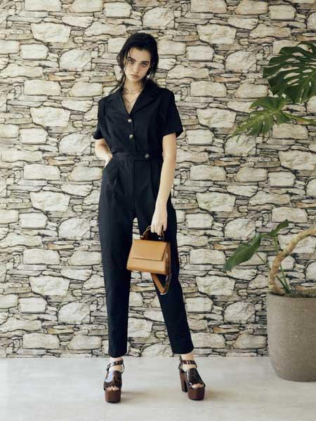 EVRIS国际品牌品牌2020春夏休闲收腰连体裤