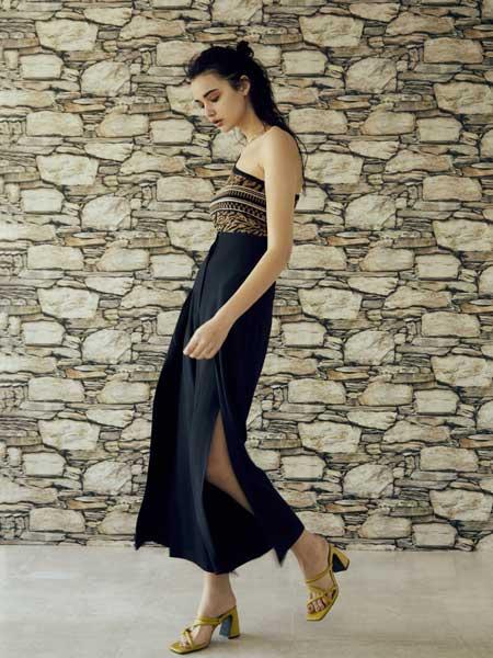 EVRIS国际品牌2020春夏修身连衣裙