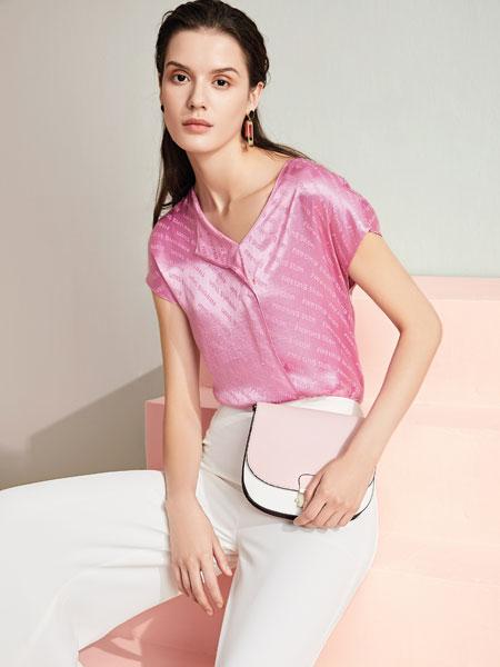 JAOBOO 乔帛女装品牌2020春夏新款纯色亮面短袖上衣