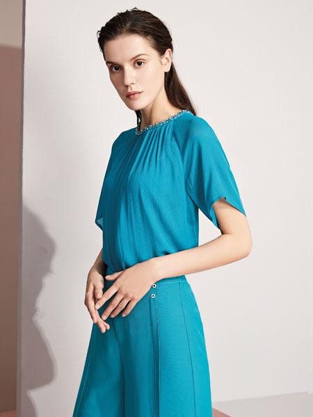 JAOBOO 乔帛女装品牌2020春夏新款纯色气质连衣裙