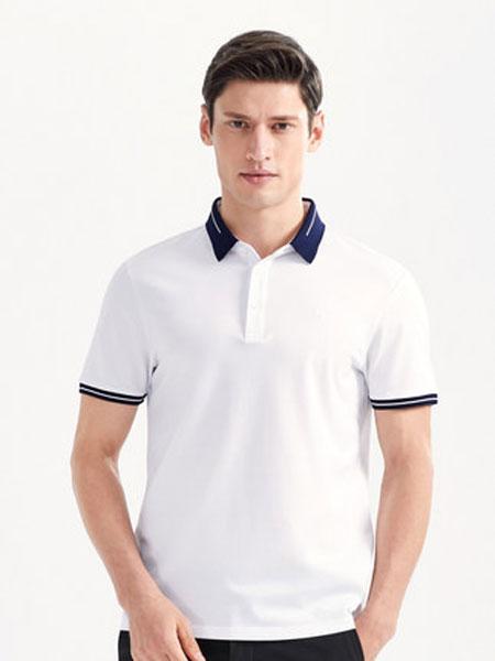 柒牌男装2020新款短袖POLO衫商务休闲男士条纹半袖夏季薄款透气弹力丝光