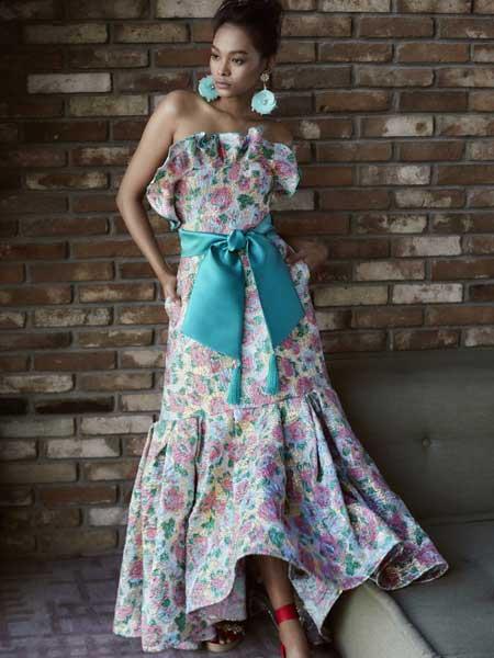 Khoon Hooi国际品牌品牌2020春夏仙气长款连衣裙
