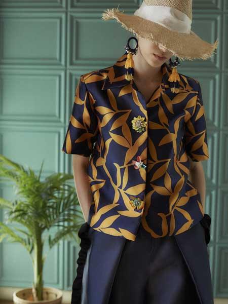 Khoon Hooi国际品牌品牌2020春夏复古气质衬衫