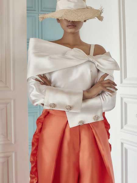 Khoon Hooi国际品牌品牌2020春夏蕾丝仙气晚礼服