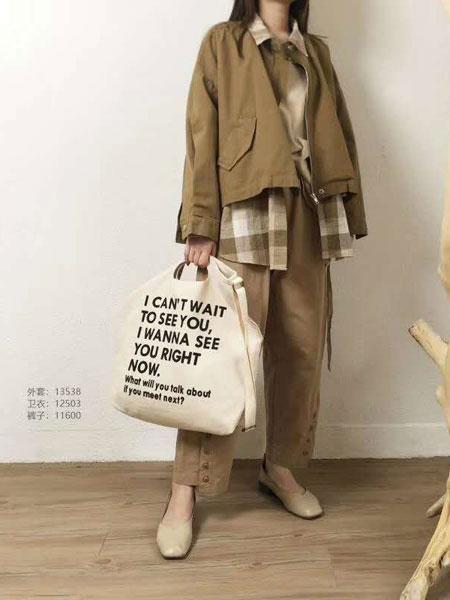 本色A8原创女装品牌2020春夏新款纯色工装夹克