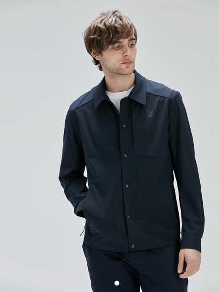 LINCS男装品牌2020春夏新款高领衬衫长袖