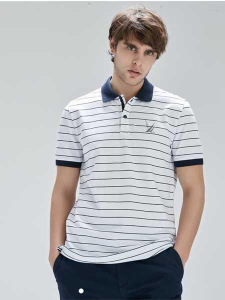 LINCS男装品牌2020春夏新款高领条纹T恤