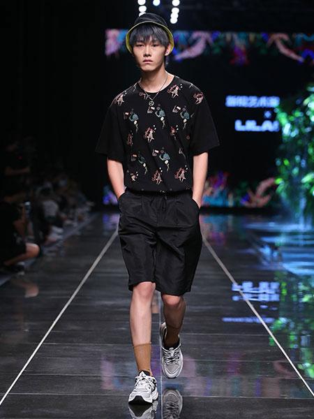 利郎男装品牌2020春夏新款联名系列新款纯色气质翻领衬衫