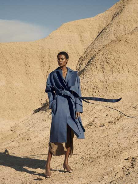 Boyarovskaya国际品牌品牌2020春夏时尚知性毛呢大衣