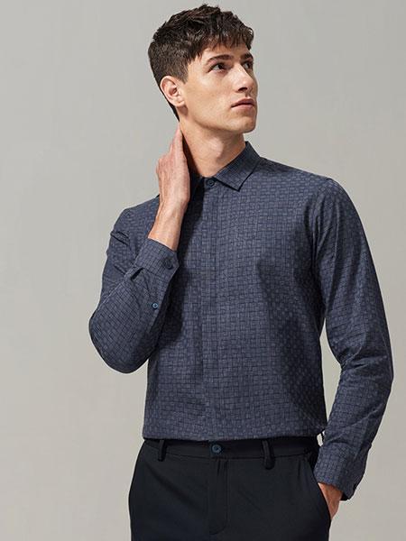 金利来男装春款男士格子衬衣舒适纯棉透气商务休闲长袖衬衫衬衣潮