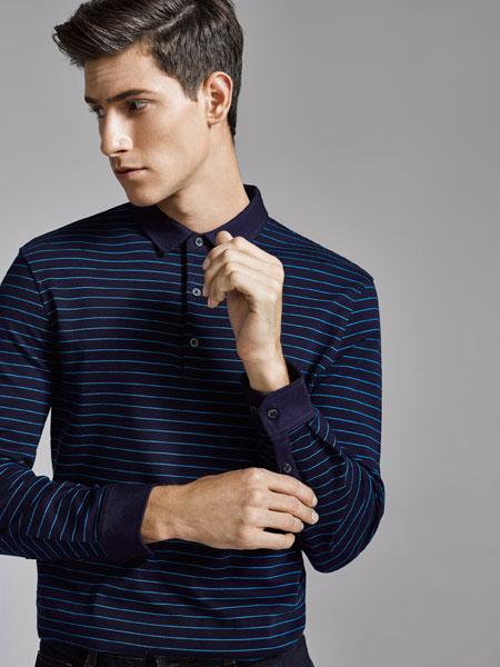 金利来2020春季新款男士纯棉干爽透气格纹提花休闲长袖衬衫